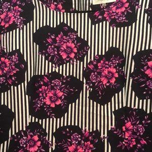 Sugarlips Dresses - Floral & striped shift dress